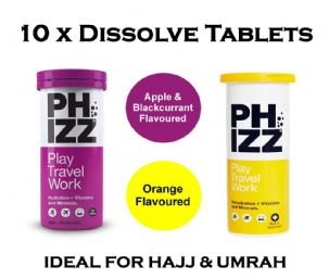 10 Vitamins, Minerals, Supplement for Hydration Tabs ( hajj & umrah kit ) must take